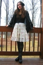 Miss Erika top - Ross skirt - from mom sweater - Dollar Tree tights - Volunteers