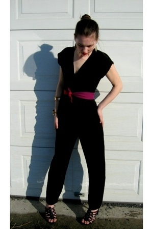 Fairey Godmothers pantsuit pants - thrifted shoes - Random Thrifted Places acces