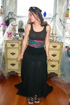 Rock and Rose skirt - Miss Erkia top - Lulus belt - thrifted shoes - Larrys Trad