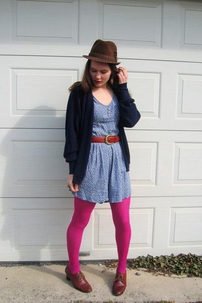 Salvation Army dress - Target tights - Lacoste sweater - shoes - belt - Fairey G