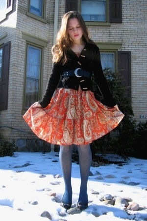 Target dress - Ross jacket - thrifted belt - Dollar Tree tights - Jessica Simpso
