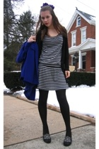 Old Navy dress - Gap sweater - thrifted shoes - Salvation Army coat - Given hat
