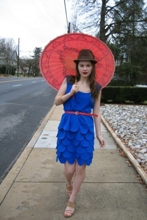 dress - belt - Fairey Godmothers hat - Nine West shoes