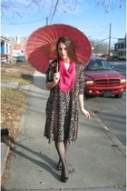 Bedford Antiques dress - dont know scarf - Thrifted Jessica Simpson shoes - wal-