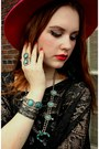 Vintage-hat-layered-targetandbetsey-johnson-tights-vintage-necklace
