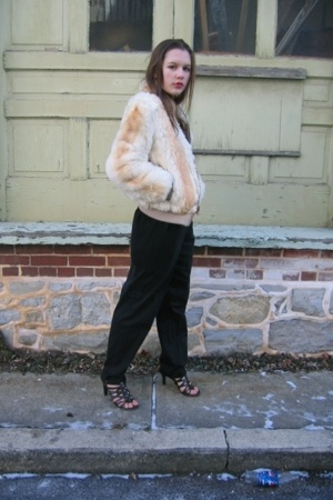 Goodwill coat - Given pants - thrifted shoes - Gap via Salvation Army sweater -