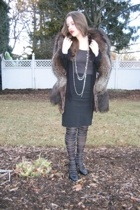 antique store jacket - Mom top - Ross skirt - Yardsale jacket - Random places ne
