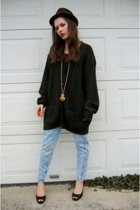 Salvation Army sweater - Salvation Army jeans - Jessica Simpson shoes - necklace