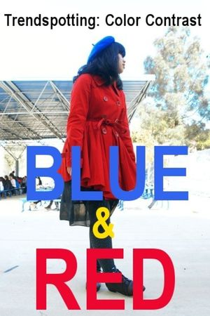 red coat - blue shirt - red stockings - red hat
