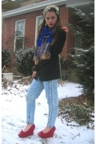 Salvation Army studded jeans - Gap via Salvation Army sweater - Rummage Sale emb