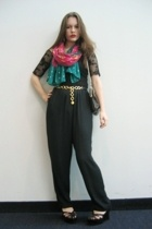 Volunteers of America pants - Charlotte Russe top - Lulus scarf - belt - Fairey