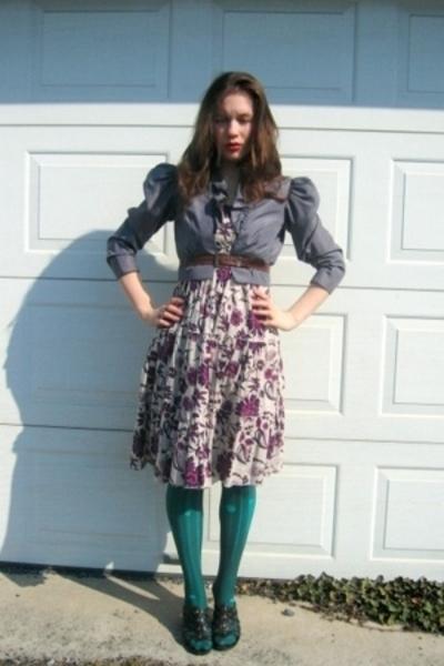 Target dress - jacket - Target tights - belt - shoes