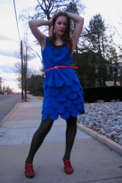 Salvation Army dress - Salvation Army belt - Dollar Tree tights - Steve Madden s