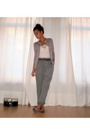 gray Mango pants