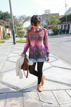 Camote Soup shirt - Ylla shoes - Forever21 jacket - Crepier bag - Esprit shorts