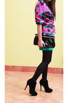 vintage jacket - Platanitos boots - pink bag - bag - monamour shorts