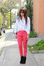 Platanitos-shoes-tommy-hilfiger-shirt-pink-bag-elektra-spankk-sunglasses