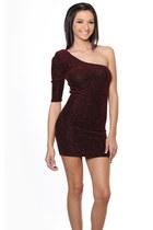 crimson pinkclubwear dress
