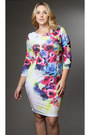 Floral-dress-pinkclubwear-dress