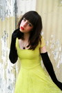 Black-gloves-lime-green-lace-h-m-dress-black-heels