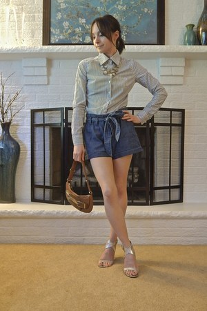 denim chambray Express shorts