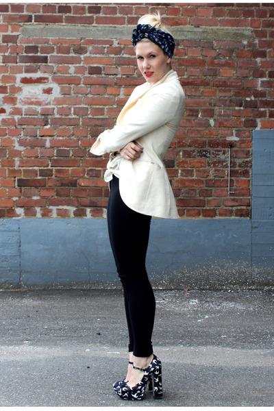 black American Apparel pants - black Miu Miu shoes - white Dolce & Gabbana blaze