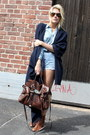 Navy-2ndhand-cape-brown-2ndhand-boots-dark-brown-mulberry-bag