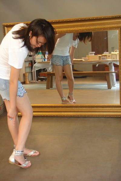 cotton on top - local shop in BKK shorts - Gossip Girl Collection shoes