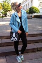 Sinsay jacket - Bershka pants - Brrylove glasses