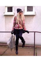 silver Primark bag - dark green brylove sunglasses - black reserved skirt