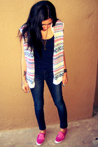 white Gap sweater - bubble gum Keds shoes