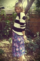 Forever 21 sweater - Playground Love Vintage skirt