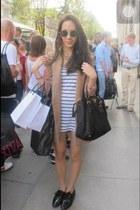 beige H&M blazer - black American Apparel shoes - Prada bag