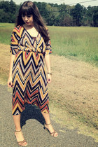 light brown chevron Basically Me dress - brown Old Navy wedges