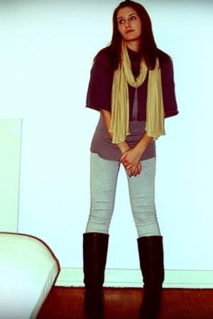 Gina Tricot I think top - pieces leggings - Saint Tropez - Bianco shoes - H&M sc