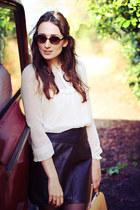 leather vintage shirt - lace shirt shirt - zara man Zara sunglasses