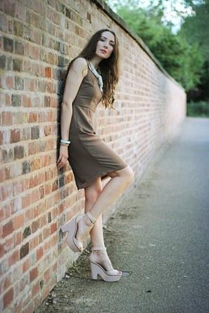TK Maxx dress - wedge Zara sandals