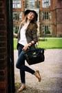 Skinny-jeans-topshop-jeans-black-hat-vintage-hat-tweed-h-m-blazer