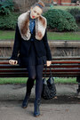 Bertie-boots-vero-moda-coat-miss-slefridge-shirt-topshop-scarf