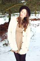 vintage hat - new look dress - vintage blazer
