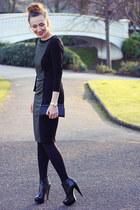 vintage vintage bag - midi dress M&S dress - boots Topshop heels