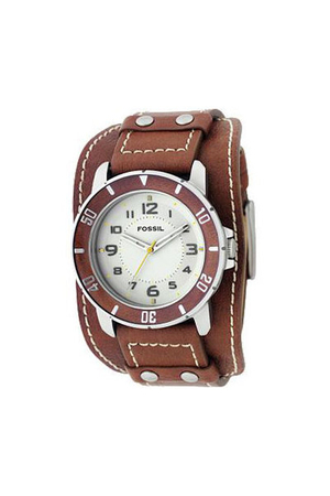 brown Fossil Watch accessories