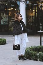 vintage scarf - Topshop boots - Levis jeans - Mango sunglasses - vintage cape