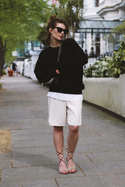 Topshop shorts - Mango sunglasses - COS top - Dolce & Gabbana sandals