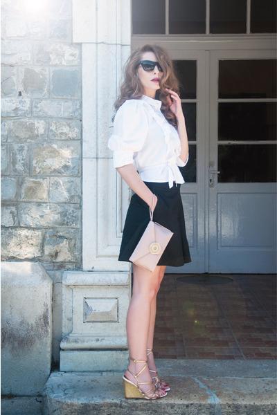 silk Wilbur & Gussie bag - COS shorts - Mango sunglasses - Miss Sixty sandals