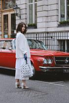 vintage blazer - Zara dress - Issey Miyake bag - vintage sunglasses