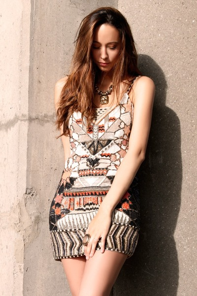 Forever 21 ring - All Saints dress - All Saints necklace