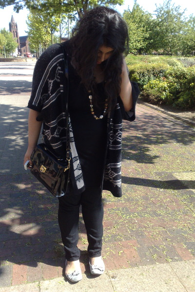 vintage bag - Monsoon cardigan