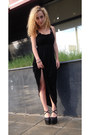 Black-cotton-maxi-unknown-brand-dress-black-leather-unknown-brand-wedges