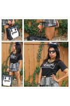 Celine bag - black pompsocietycom belt - pompsocietycom necklace - H&M skirt